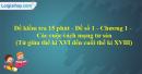 Đề kiểm tra 15 phút - Đề số 1 - Chương I - Phần 3 - Lịch sử 10