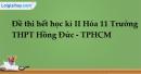 Đề thi hết học kì II Hóa 11 Trường THPT Hồng Đức - TPHCM
