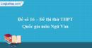 Đề số 16 - Đề thi thử THPT Quốc gia môn Ngữ văn