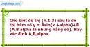 Bài 1.13 trang 9 SBT Đại số và Giải tích 11 Nâng cao