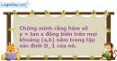 Bài 1.14 trang 9 SBT Đại số và Giải tích 11 Nâng cao