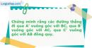 Bài 29 trang 9 SBT Hình Học 11 nâng cao
