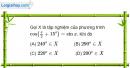 Bài 1.55 trang 17 SBT Đại số và Giải tích 11 Nâng cao