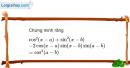 Bài 1.60 trang 18 SBT Đại số và Giải tích 11 Nâng cao