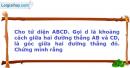Bài 38 trang 10 SBT Hình học 12 Nâng cao