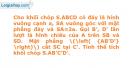 Bài 39 trang 10 SBT Hình học 12 Nâng cao