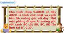 Bài 61 trang 13 SBT Hình học 12 Nâng cao
