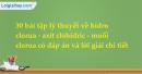 30 bài tập lý thuyết về hidro clorua - axit clohidric - muối clorua có lời giải