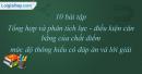 10 bài tập Tổng hợp và phân tích lực - điều kiện cân bằng của chất điểm mức độ thông hiểu