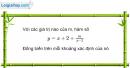 Bài 1.7 trang 11 SBT Giải tích 12 Nâng cao