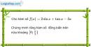 Bài 1.13 trang 12 SBT Giải tích 12 Nâng cao