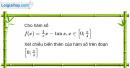 Bài 1.15 trang 12 SBT Giải tích 12 Nâng cao