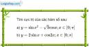 Bài 1.18 trang 13 SBT Giải tích 12 Nâng cao