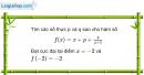 Bài 1.20 trang 13 SBT Giải tích 12 Nâng cao