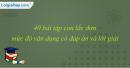 40 bài tập con lắc đơn mức độ vận dụng