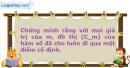 Bài 1.83 trang 27 SBT Giải tích 12 Nâng cao