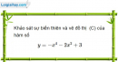 Bài 1.85 trang 28 SBT Giải tích 12 Nâng cao