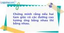 Bài 63 trang 15 SBT Hình Học 11 Nâng cao