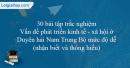 30 bài tập Vấn đề phát triển kinh tế - xã hội ở Duyên hải Nam Trung Bộ mức độ dễ
