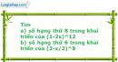 Bài 2.31 trang 65 SBT Đại số và Giải tích 11 Nâng cao