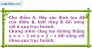 Bài 2.19 trang 33 SBT Đại số 10 Nâng cao