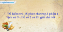 Đề kiểm tra 15 phút chương 3 phần 1 - Đề số 2