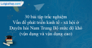 30 bài tập Vấn đề phát triển kinh tế - xã hội ở Duyên hải Nam Trung Bộ mức độ khó