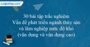 30 bài tập Vấn đề phát triển ngành thủy sản và lâm nghiệp mức độ khó