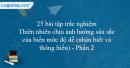 25 câu trắc nghiệm Thiên nhiên chịu ảnh hưởng sâu sắc của biển mức độ dễ (Phần 2)