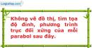 Bài 2.27 trang 34 SBT Đại số 10 Nâng cao