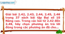 Bài 2.42, 2.43, 2.44, 2.45, 2.46 trang 37 SBT Đại số 10 Nâng cao