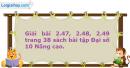 Bài 2.47, 2.48, 2.49 trang 38 SBT Đại số 10 Nâng cao