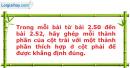 Bài 2.50, 2.51, 2.52 trang 38, 39 SBT Đại số 10 Nâng cao