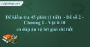 Đề kiểm tra 45 phút (1 tiết)  - Đề số 2 - Chương 1 - Vật lí 10