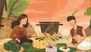 Em hãy kể tóm tắt truyền thuyết Bánh chưng, bánh giầy
