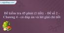 Đề kiểm tra 45 phút (1 tiết)  - Đề số 2 - Chương 4 - Vật lí 10