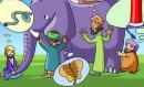 Viết một đoạn văn ngắn để rút ra bài học từ câu chuyện Thầy bói xem voi