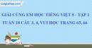 Giải câu 3, 4, vui học trang 65, 66