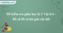 Đề kiểm tra giữa học kì 1 Vật lí 6 - Đề số 05