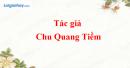 Tác giả Chu Quang Tiềm