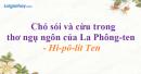 Chó sói và cừu trong thơ ngụ ngôn của La Phông-ten - Hi-pô-lít Ten