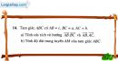 Bài 14 trang 40 SBT Hình học 10 Nâng cao