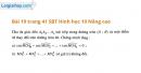 Bài 19 trang 41 SBT Hình học 10 Nâng cao