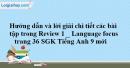 Language Review 1 (1-2-3)  SGK Tiếng Anh 9 mới