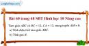 Bài 60 trang 48 SBT Hình học 10 Nâng cao
