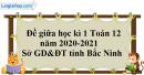 Giải đề thi giữa học kì 1 toán lớp 12 năm 2020 - 2021 sở GD tỉnh Bắc Ninh