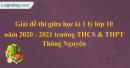 Giải đề thi giữa học kì 1 lý lớp 10 năm 2020 - 2021 trường THCS & THPT Thông Nguyên