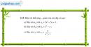 Câu 3.15 trang 87 sách bài tập Đại số và Giải tích 11 Nâng cao