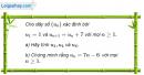 Câu 3.25 trang 89 sách bài tập Đại số và Giải tích 11 Nâng cao