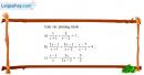 Câu 3.29 trang 62 SBT Đại số 10 Nâng cao